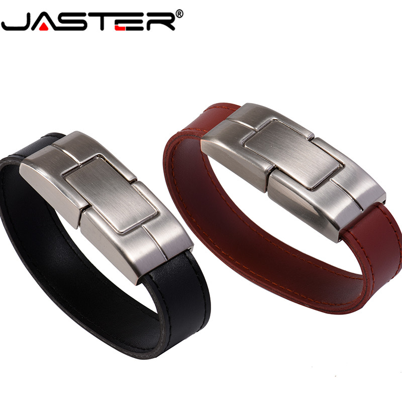 JASTER Usb2.0 New Style Brown/Black Leather Model Usb 3.0 8GB 16GB 32GB Memory Flash Stick Pen Drive A Good Gift Free Shipping