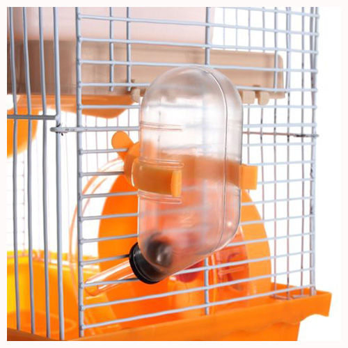 TFBC-Hot Hamster Gerbil Mouse Small Pet Cage 2 Storey Levels Floor Water Bottle Wheel
