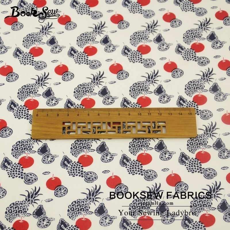 Booksew 100% хлопок Поплин Ткань фруктовый дизайн домашний текстиль мягкий материал для стеганых изделий DIY для платья пошив одежды Tildas рубашка