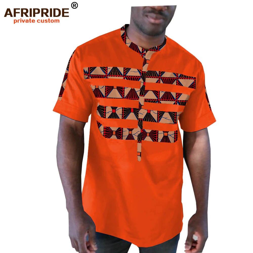 2019 africain hommes vêtements vêtements dashiki hauts à manches courtes o-cou hommes chemise d'été tenues décontractées plus suze AFRIPRIDE A1912003