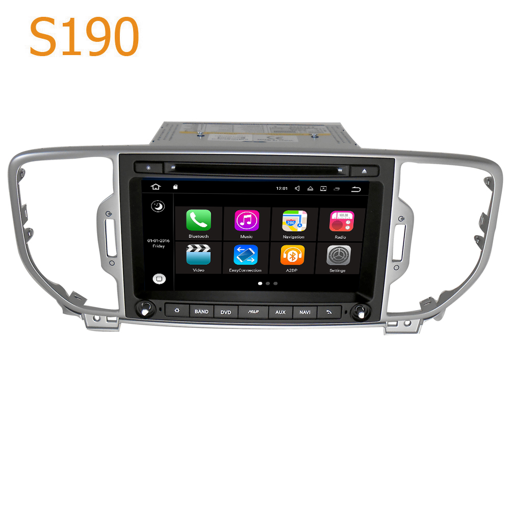 Road Top Winca S190 4 Core CPU Android 7.1 System Car GPS DVD Player Head Unit for Kia Sportage 2016 2017 with Radio Navigation