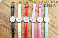 Новые прибыл дети милые животные Простой дизайн кварцевые часы для мальчиков и девочек милые бабочки циферблат учиться время кожа подарок часы 2