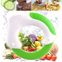 Stainless Steel Round Knife Vegetable Chooper Anit Slip Handle Fruit Vegetable Cutter Slicer Pizza Ring Wheel