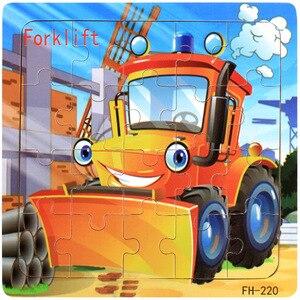 Image 2 - 20 pçs quebra cabeças de madeira brinquedos crianças 3d dos desenhos animados animais puzzle brinquedo da criança de alta qualidade madeira interessante brinquedos educativos para presentes do bebê