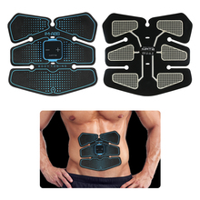 Vibration Abdominal Muscle Trainer Stimulator Body Slimming Shaper Machine EMS Home Gym Fitness Belly Massage USB Charged