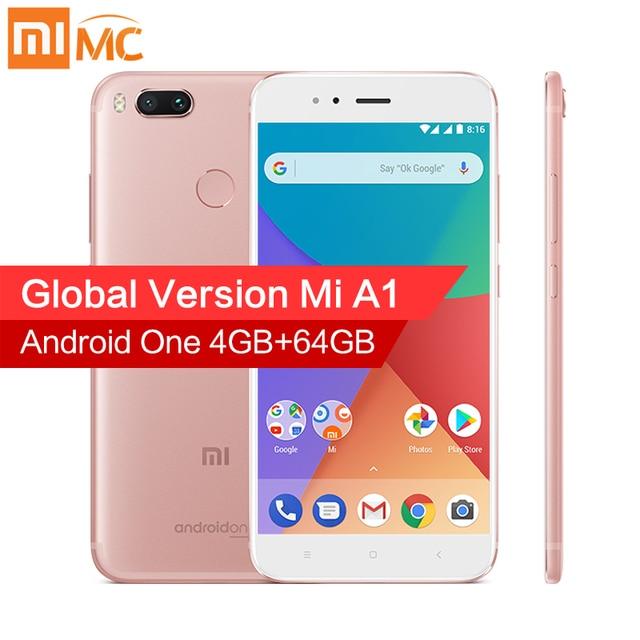 """Global Version Xiaomi Mi A1 MiA1 Android 8.0 Mobile Phone 4GB 64GB Snapdragon 625 Octa Core 5.5"""" 1080P Dual Camera 12.0MP FCC CE"""