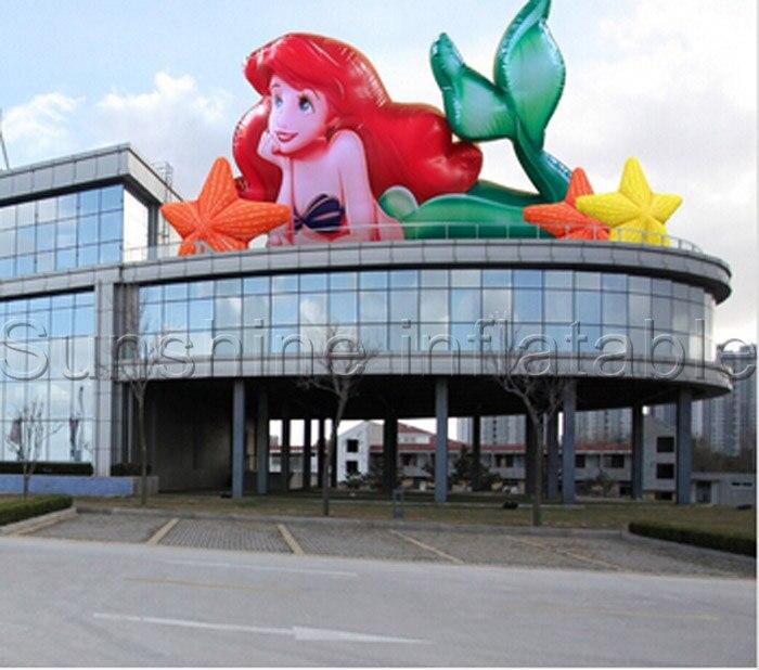 Sirène gonflable géante de vente chaude, ballon gonflable de sirène pour la décoration d'événement