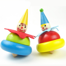 Novelty Kid's Toy Classic Toys Wooden Colorful Spinning Top Wooden Toy Kids Rotating Toys Wood Gyro Children's Party