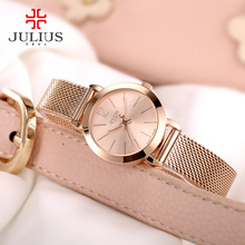 2017 Nouveau Julius Femmes de Dame Montre-Bracelet À Quartz Heures Acier Classique OL Bracelet Montres Femmes Amant de Fille Meilleur Cadeau d'anniversaire