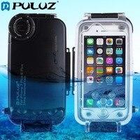 PULUZ עבור iPhone 8 בתוספת & 7 בתוספת 40 m/130ft שיכון צלילה עמיד למים מגן Case תמונה לקיחת וידאו מקרה כיסוי מתחת למים