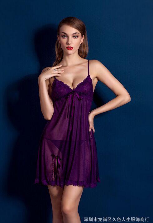 Romantic Robe Bath Women Sexy Dress Lingerie Transparent Diaphanous Trajes for Female Erotica Nightwear Gown Lady Pyjamas CA529