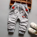 2017 Kids Fashion Casual Pants Gilrs Boys Cotton Trousers Cartoon Children Clothing Elastic Waist
