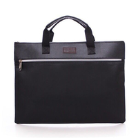 A4 PU Leather Tote File Folder Luxury Business Document Bag Filing Meeting Handbag Zipper Layer Pocket