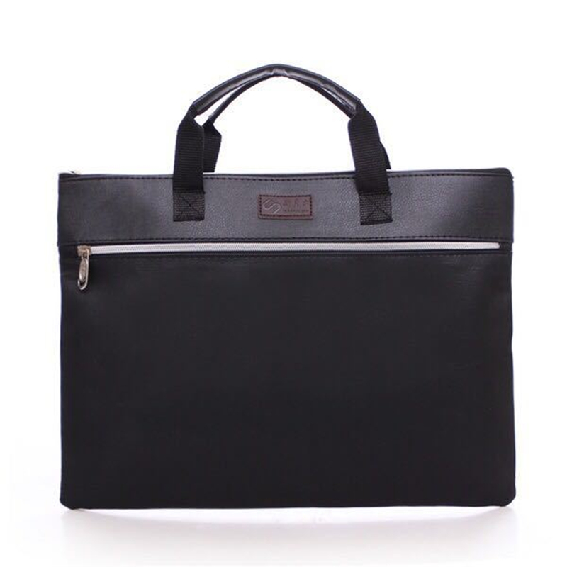 A4 PU Leather Tote File Folder Luxury Business Document Bag Filing Meeting Handbag Zipper Layer Pocket