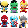 The Avengers 2 Super Heros Stuffed Plush Toy Captain America Ironman Hulk Spiderman Hawkeye Thor Toys Dolls Gifts for Kids 18cm