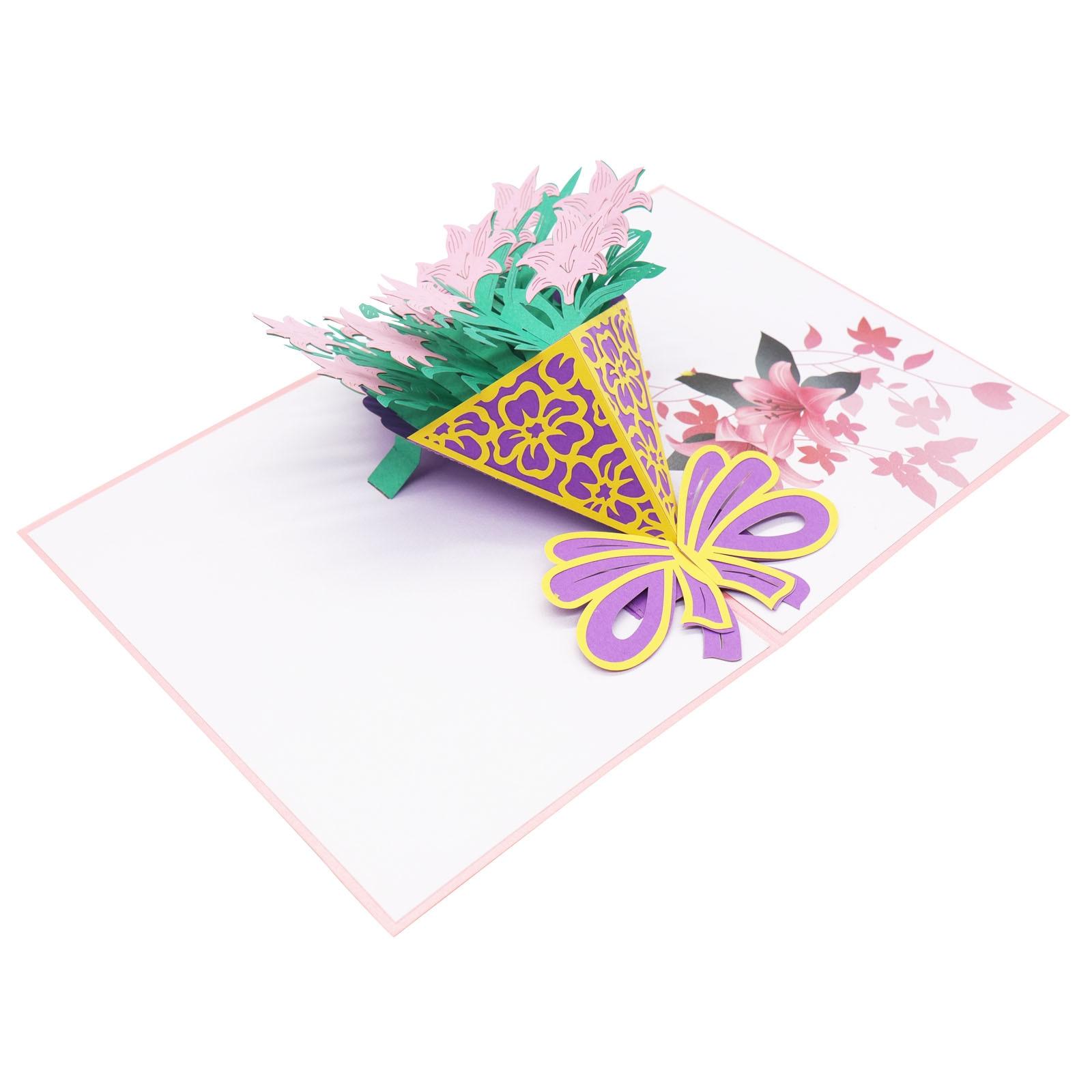 Hot Sale New 3d Pop Up Greeting Card Love Romantic Birthday Wedding