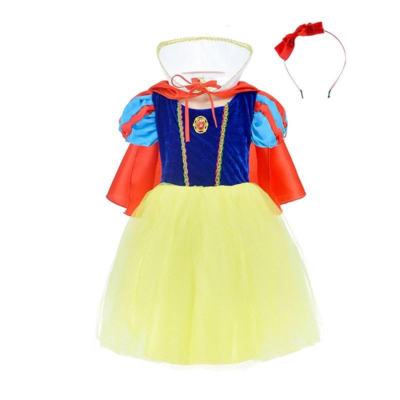 Fancy Baby Girl Princess Clothes Kid Jasmine Rapunzel Aurora Belle Ariel Cosplay Costume Child Elsa Anna Elena Sofia Party Dress