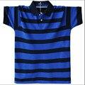 Рубашки поло 2017 Новый Летний С Коротким Рукавом в Полоску Поло Homme Turn Down Воротник Рубашки Поло Плюс Размер М-5XL A1590