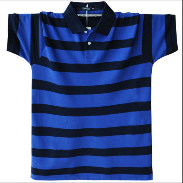 Polo Shirt 2017 New Summer Short Sleeve Striped Polo Homme Turn Down Collar Men Polo Shirt Plus Size M-5XL A1590
