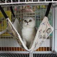 Soft Cotton Fleece Cats Hammock Bed Rat Rabbit Kitty Kitten Small Animal Removable Hanging Pet Swing