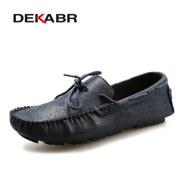 Fashion Men Shoes Summer Cool Winter Warm Leather Shoes Men's Flats Shoes Low Mens Casual Soft Moccasins Oxford Shoe for Men