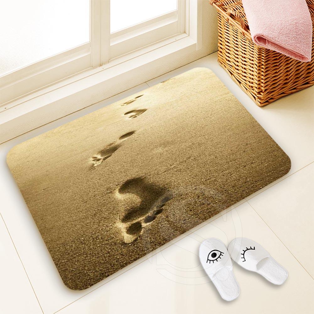 H-P691 Custom foodprint #9 Doormat Home Decor 100% Polyester Pattern Door mat Floor Mat foot pad SQ00729-@H0691