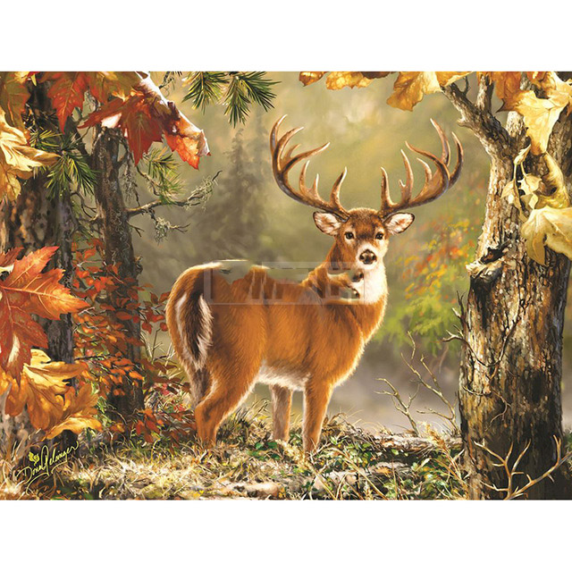 Full SquareRound Drill 5D DIY Diamond Painting Forest deer Embroidery Cross Stitch 5D Home Decor Gift
