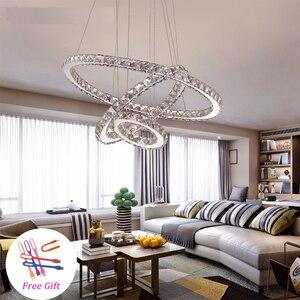 Image 3 - Modern LED kristal Avize Işıkları Lamba Oturma Odası Cristal Cilası Avizeler Aydınlatma Kolye tavanda asılı Için Fikstür