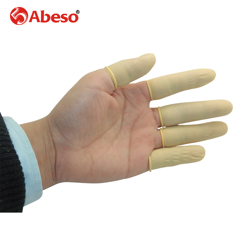 1000pcs/lot Aibusiso Antistatic durable latex finger cots safety gloves antiskid for chalk Electronic finger cots A7211 anti static elastic finger cots stalls yellow size l 50 pcs