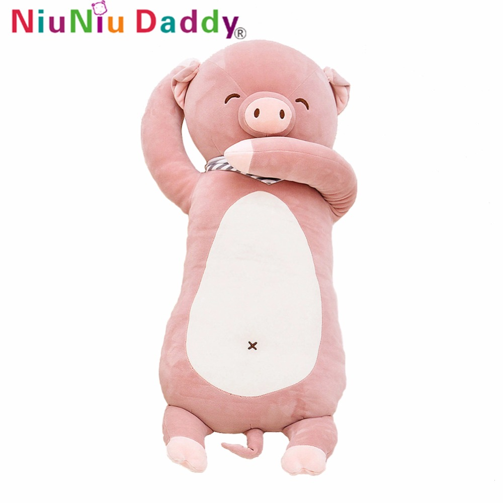 Niuniu Daddy Niuniu Daddy Plush Pig Peter Stuffed Piglet Toy Soft Animal Doll Plush Cute Animal Kids Toys Christmas Gifts 75cm plush ocean creatures plush penguin doll cute stuffed sea simulative toys for soft baby kids birthdays gifts 32cm