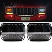 5x 7 7x 6 LED White Hi/Low Headlight Amber Turn Signal For Jeep Wrangler YJ Cherokee XJ Comanche MJ H6054 H5054 H6054LL
