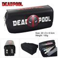 Bolso de la carpeta X X-men Deadpool Deadpool iron man Batman de alta capacidad de doble cremallera lápiz bolsa monedero