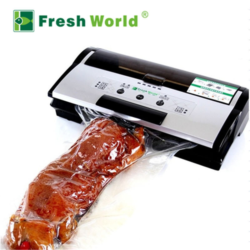 Melhor Aferidor do Vácuo De Alimentos Máquina de Embalagem Automática Elétrica Domésticos Pequenos Utensílios de Cozinha Industrial Para A Embalagem A Vácuo