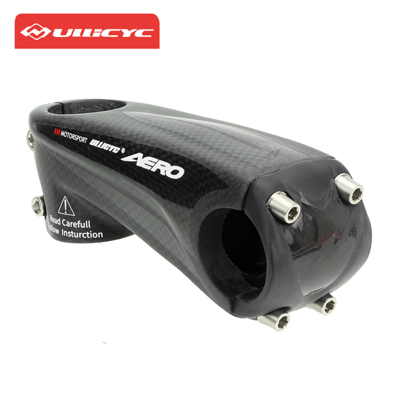 все цены на Ullicyc Carbon Stem Road Bike Mtb Mountain Bicycle Stem 3K Matt Glossy Sticker 31.8*80/90/100/110mm Cycling Stem Carbon Parts онлайн