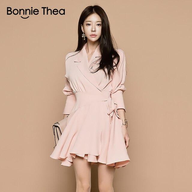 f9fb5dd2d € 31.93 |Bonnie thea sexy mini mujeres vestido de otoño mujer rosa vestido  corto trabajo de oficina damas vestidos vestido 2018 de las mujeres ropa ...