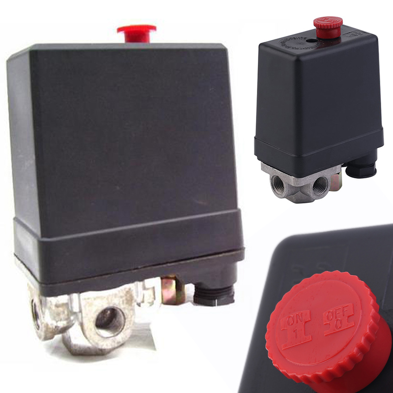 1 Pcs 3-phase 380/400 V Compressor Pressure Switch Heavy Duty Air Compressor Pressure Switch Control Valve Mayitr heavy duty air compressor pressure control switch valve 90 120psi 12 bar 20a ac220v 4 port 12 5 x 8 x 5cm promotion price