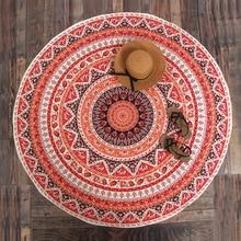 CAMMITEVER บาง Tapestry ผ้าเช็ดตัวชายหาดขนาดใหญ่สีแดงโบฮีเมียสไตล์แห่งชาติพิมพ์ Toalla Playa Serviette de Plage