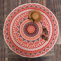 Thin Tapestry Beach Towel Beach Big Round Red New Arrival National Style Bohemia Printed Toalla Playa Serviette de Plage Towe