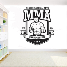 UFC MMA Extreme Fighters Wrestling wall decal room decoration removeable vinyl DIY decals Fight Sport Martial Arts Sticker G949 ufc fight night auckland