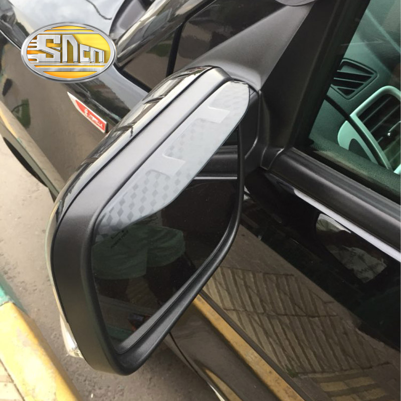 SNCN 2PCS Car Rearview <font><b>Mirror</b></font> Eyebrow Cover Rain-proof Snow Protection Decoration <font><b>Accessories</b></font> <font><b>For</b></font> <font><b>Ford</b></font> <font><b>Explorer</b></font> 2013 2014 2015 image