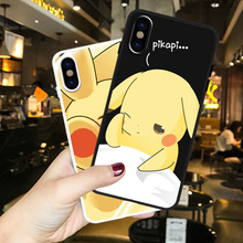 Pokemons Pikachue Pocket Monsters Cute anime Phone case For coque iPhone 7 6s 8 Puls XS Max silicon for iphone cover X XR
