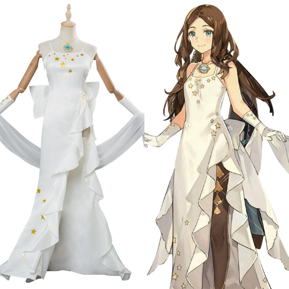 Fate Grand Order Cosplay Costume Leonardo Da Vinci Costume Dress Gown For Girls Halloween Evening Party Costumes Game Costumes Aliexpress