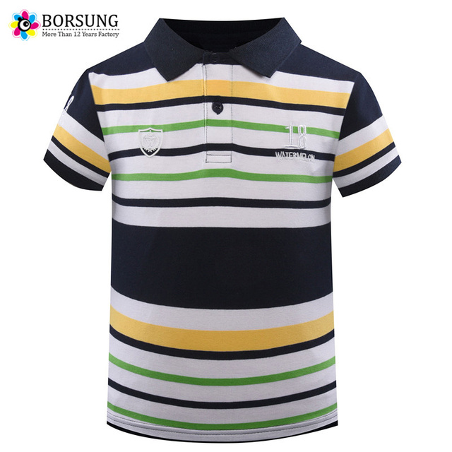 0b7bcae8d6 2018 Summer Boys Striped Polo Shirts Cotton Short Sleeve Embroidery Letters  Child Polo For Boys Clothing Kids Polo Shirt 3-7Yrs