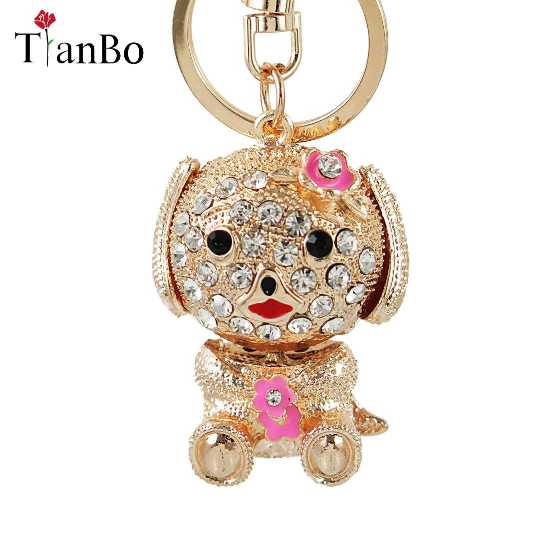 LC/_ Cute Elephant Keychain Bling Rhinestone Key Ring bag Charm Pendant Gift Gr