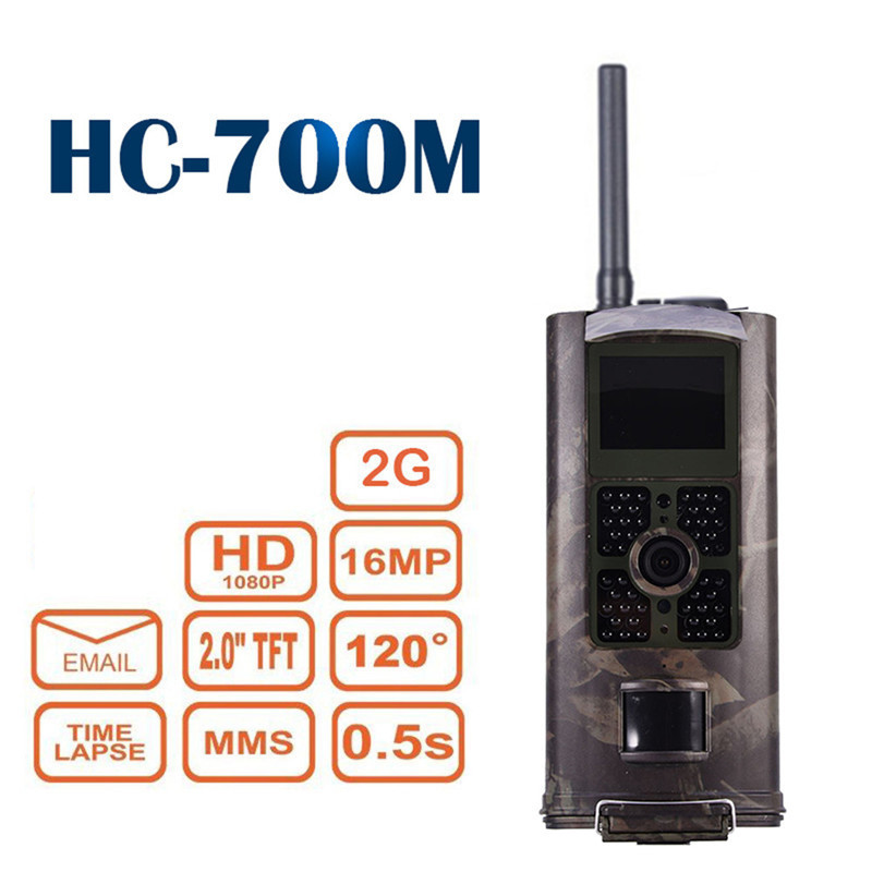 HC-700M 2G MMS GPRS Trail Sauvage Chasse Caméra Cam Vision Nocturne Caméras Piège Caméscope 16G TF Carte