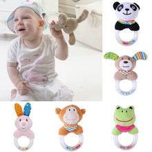 2019 Summer New Arrivel Newborn Infant Developmental Hand Grip Cartoon Baby Toys Animals Handbells P40(China)