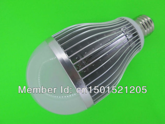 24W LED bulbs, dimming bubble bulb AC85 - 265V, E27 , silver shell color, warm / cool white ,12*2W+ Free shipping