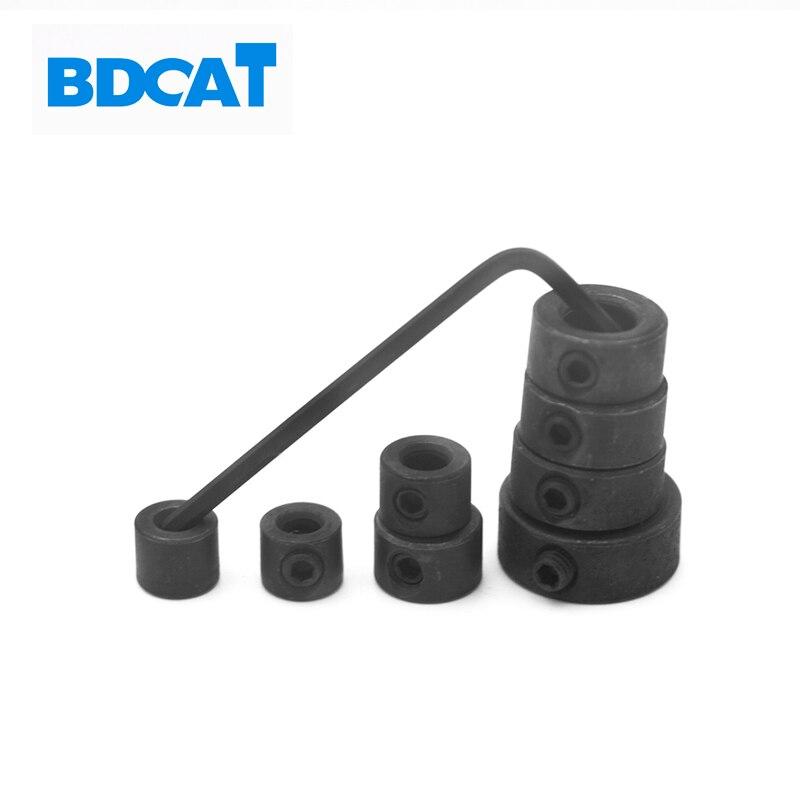 8 pièces/ensemble 3-16mm emplacement foret outils de travail du bois perceuse localisateur foret profondeur butée collier anneau positionneur avec clé hexagonale
