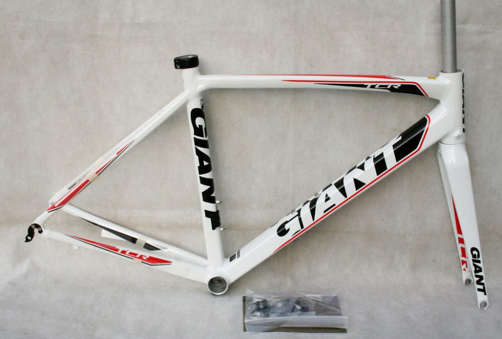 New GIANT TCR FF alloy ROAD frame set 50cm white color