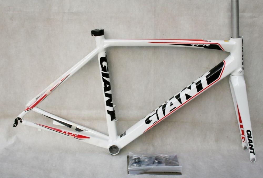 New GIANT TCR FF Alloy ROAD Frame Set 50cm White Color
